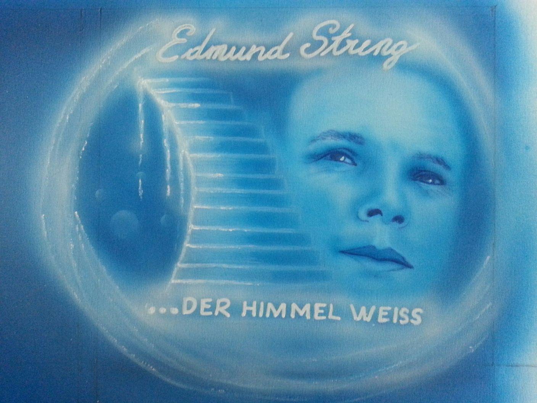 Edmund Streng wird am nächsten Samstag seine neue CD vorstellen. Airbrush von Sarah Heinzl aus Dornbirn