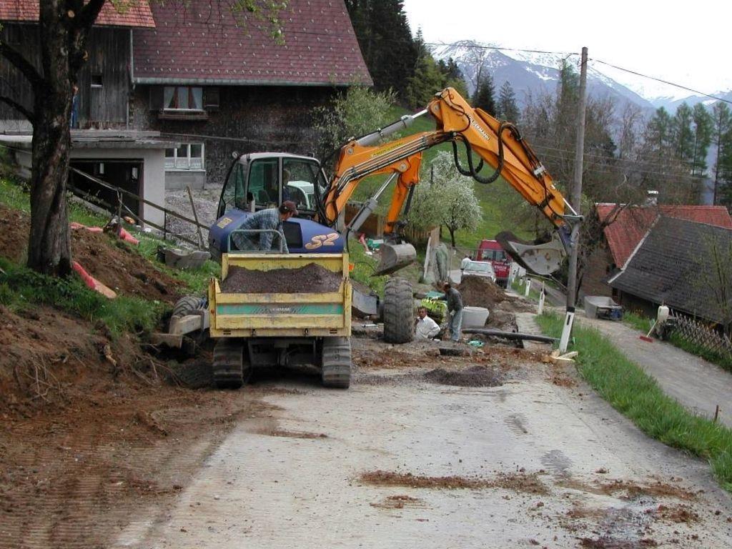 Die Kanalbauarbeiten am Dünserberg stehen vor dem Abschluss.