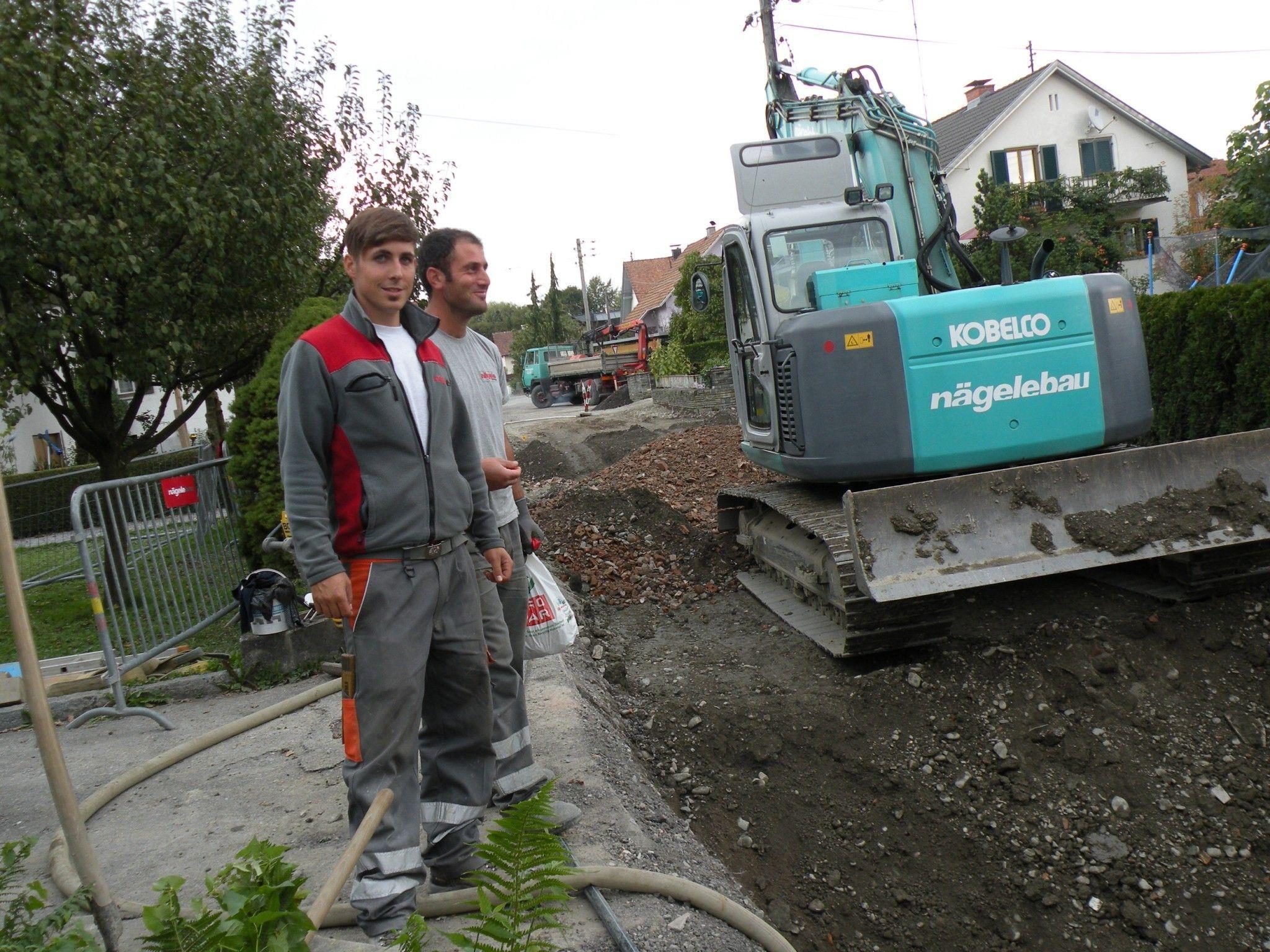 """Kanalarbeiten """"Am Böhler"""" wurden auf den oberen Teil der Straße ausgedehnt."""