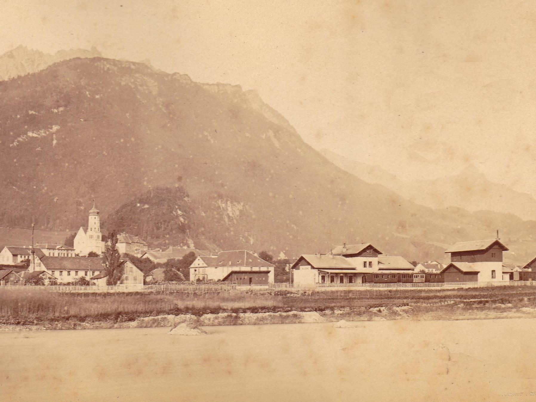 Bahnhof Bludenz - um ca. 1875