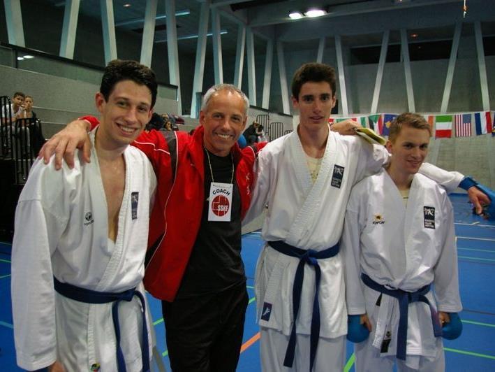v.l. Andreas, Gerd und Tobias Muther, Jan Fleisch