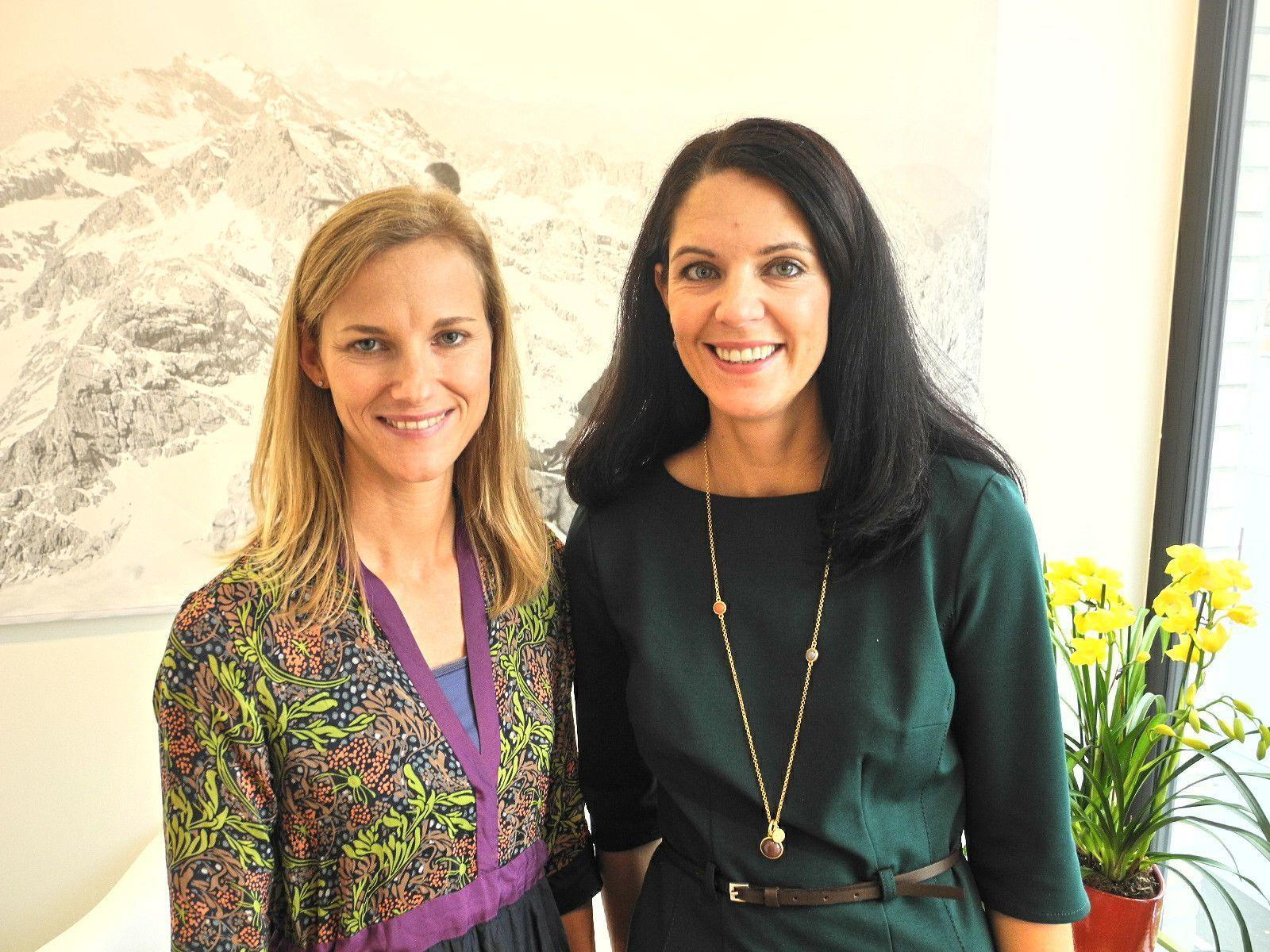 (l.) Die beiden Gynäkologinnen Susanne Summer und Michelle Kargl-Neuner wagten den Sprung in die Selbstständigkeit