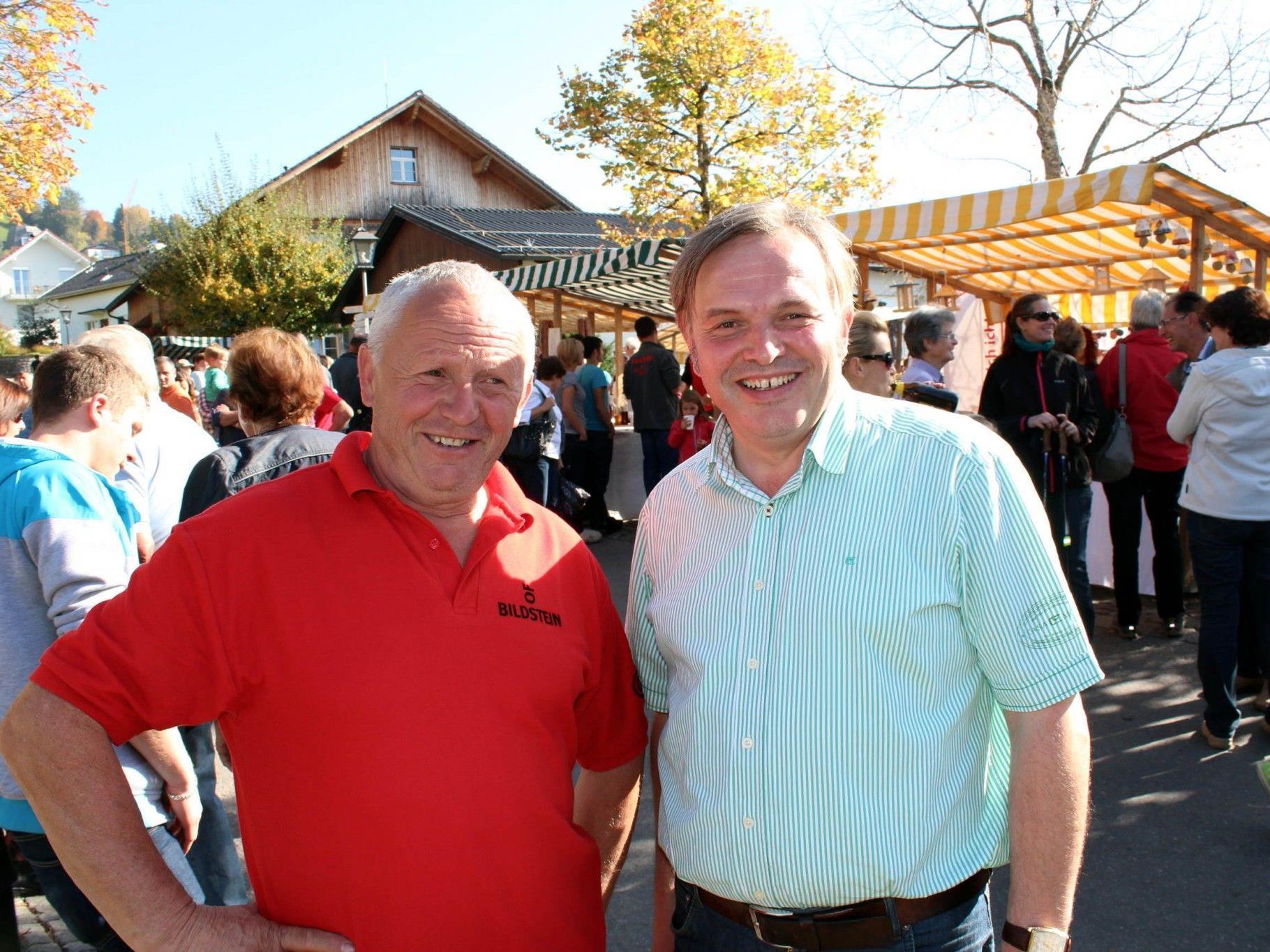Die Hauptorganisatoren Roman Immler und Helmut Lenz.