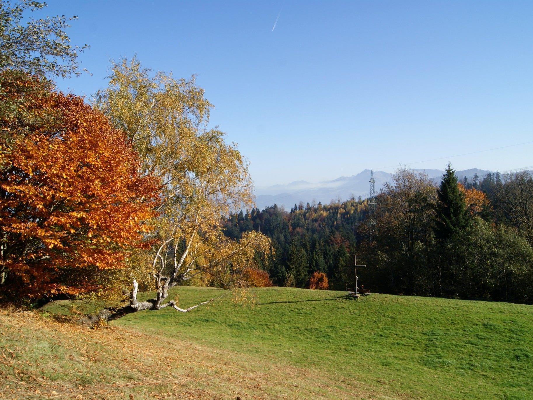 Der Schneiderkopf ist ein beliebtes Ausflugsziel – im Herbst meistens oberhalb der Nebelgrenze.