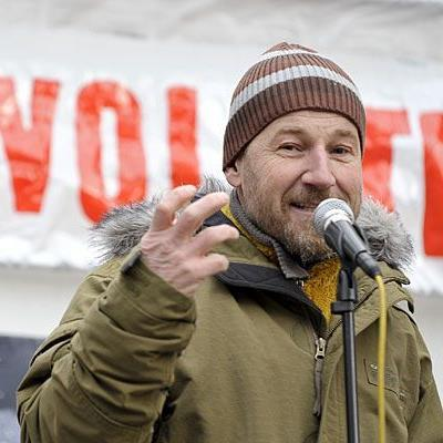 """""""Wutbürger"""" Roland Düringer zeigte sich zuletzt oft gesellschaftskritisch - wie bei der Occupy Vienna-Veranstaltung"""