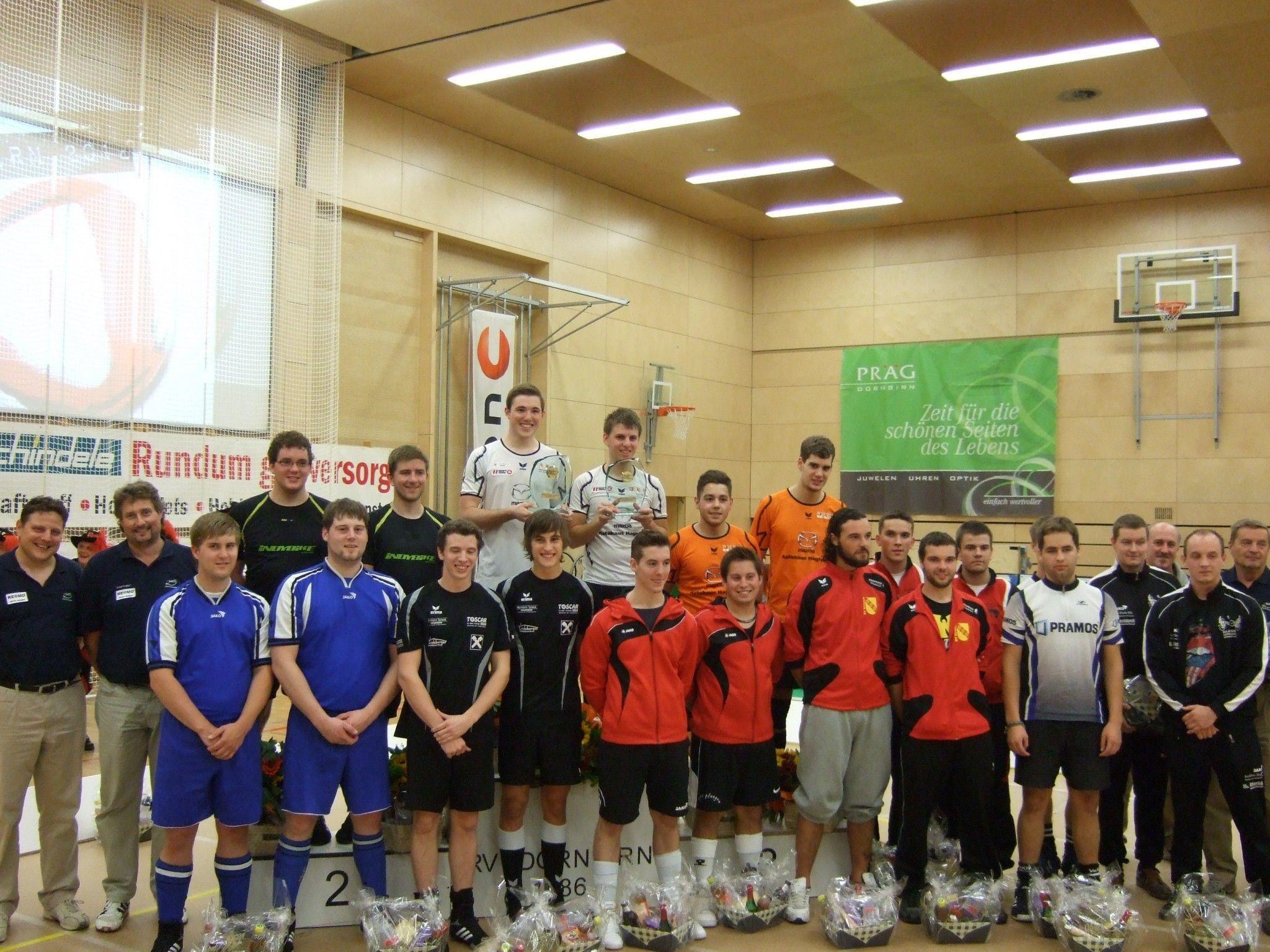 Die stolzen Sieger vom U23 Europacup im Radball, der heuer in Dornbirn stattfand.