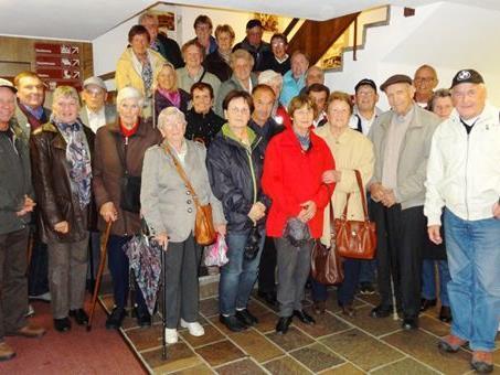 Die Teilnehmer vor der Rückfahrt vom Berghotel Schwägalp