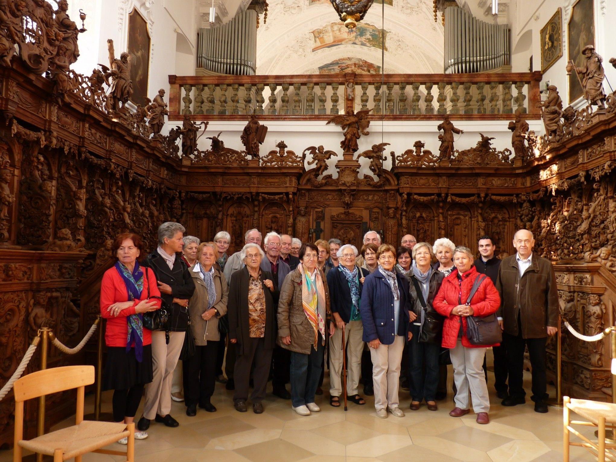 Teilnehmer in der Klosterkirche Buxheim