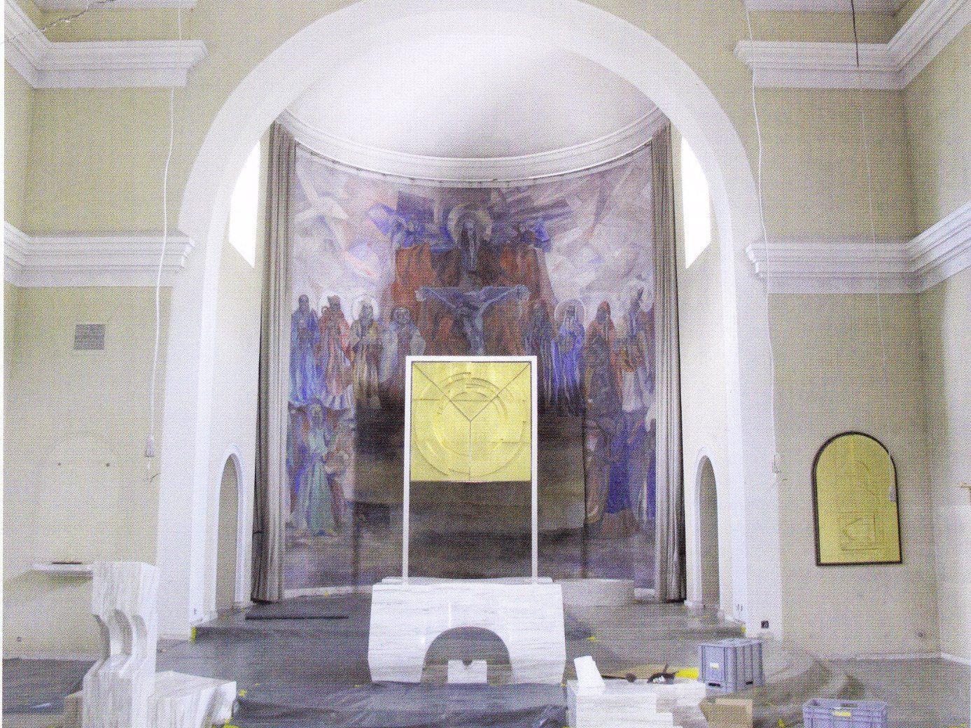 Das Monumentale Chorwandbild von Martin Häusle in der Maurer Kirche