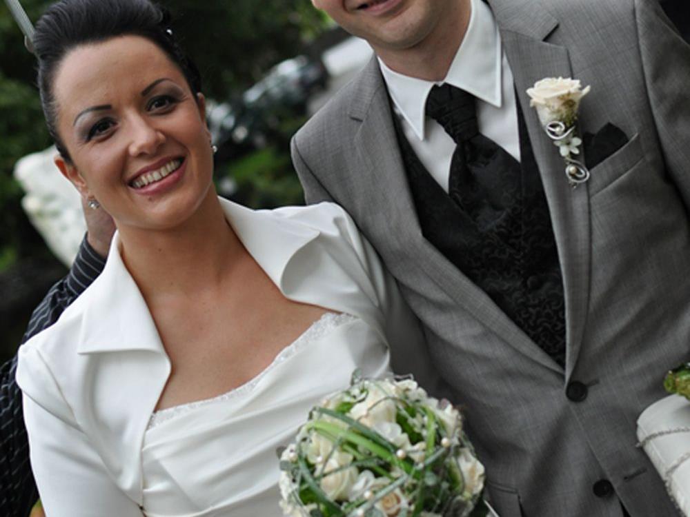 Das Hochzeitspaar Bianca und Alexander.