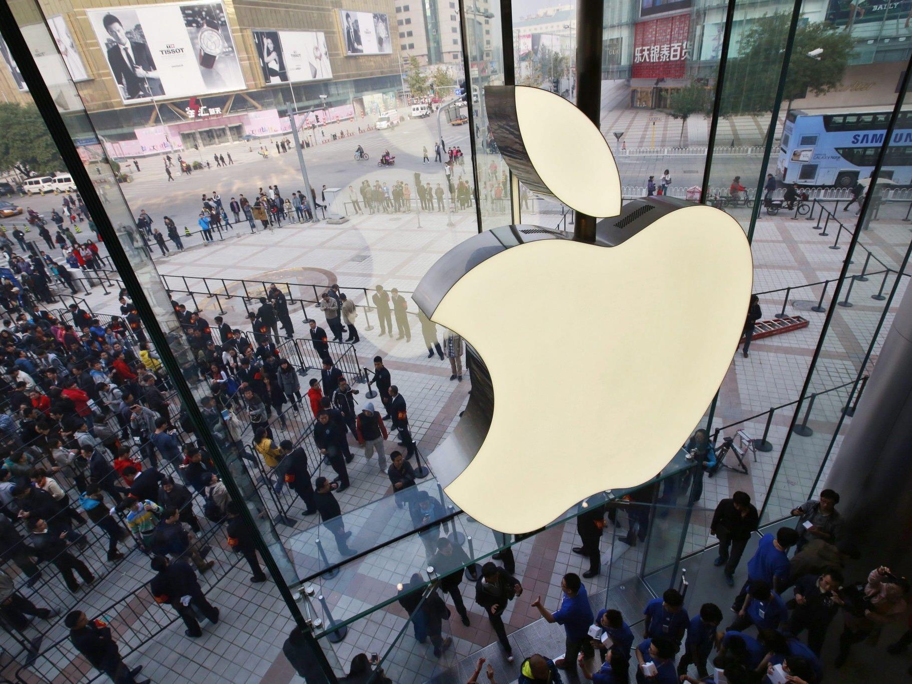 Bild des neuen Apple-Stores in Peking (China).