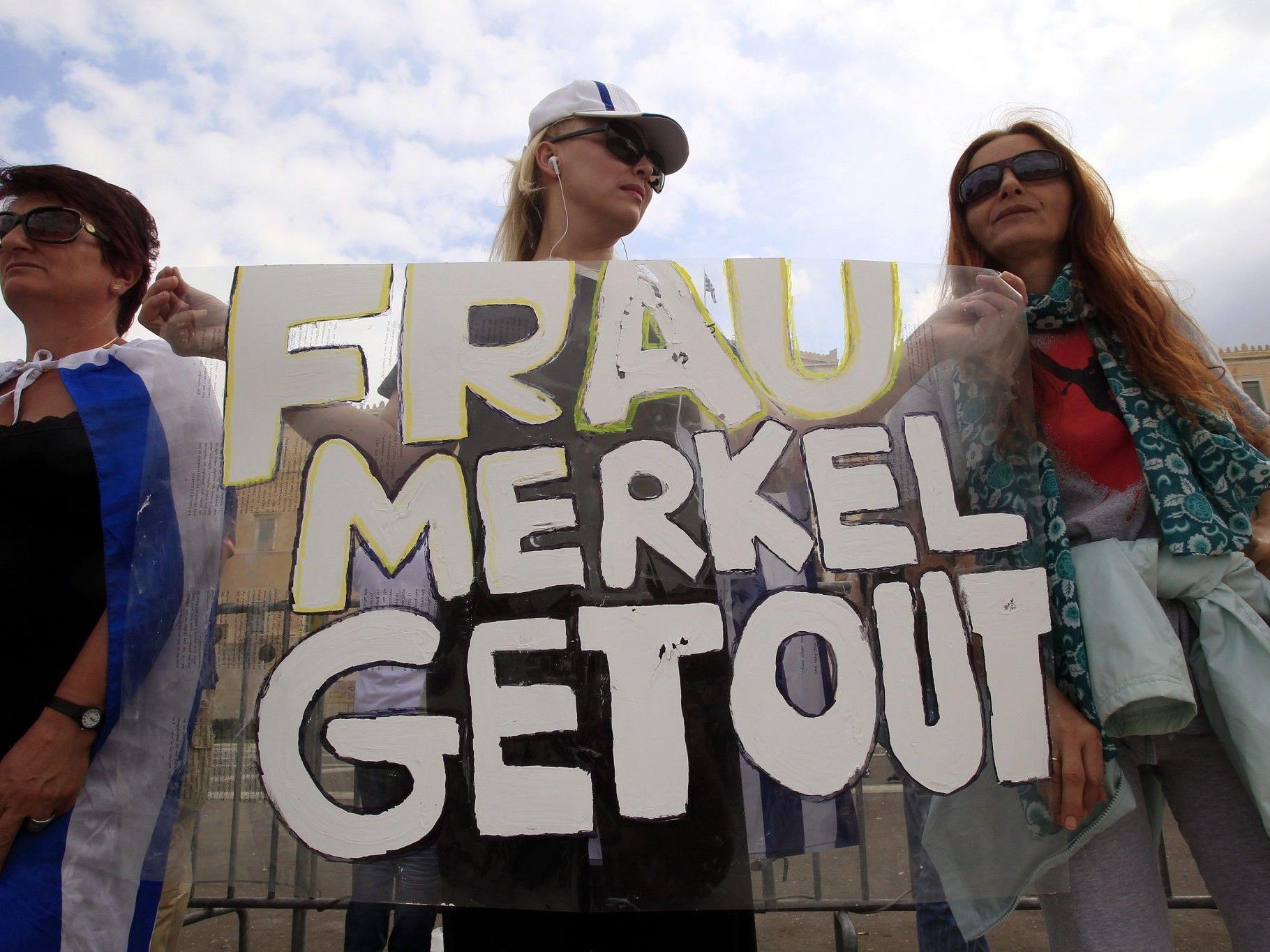 Demonstranten in Athen.