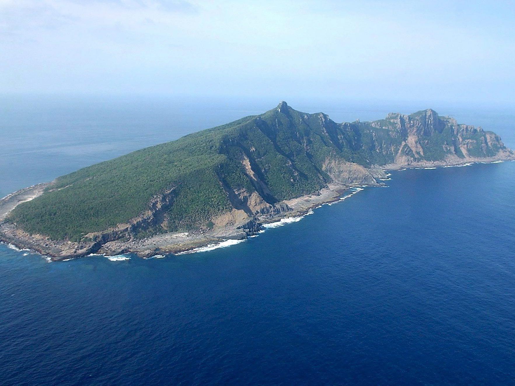 Eine Insel der Inselgruppe Sekaku (Japan) oder Diaoyu (China).