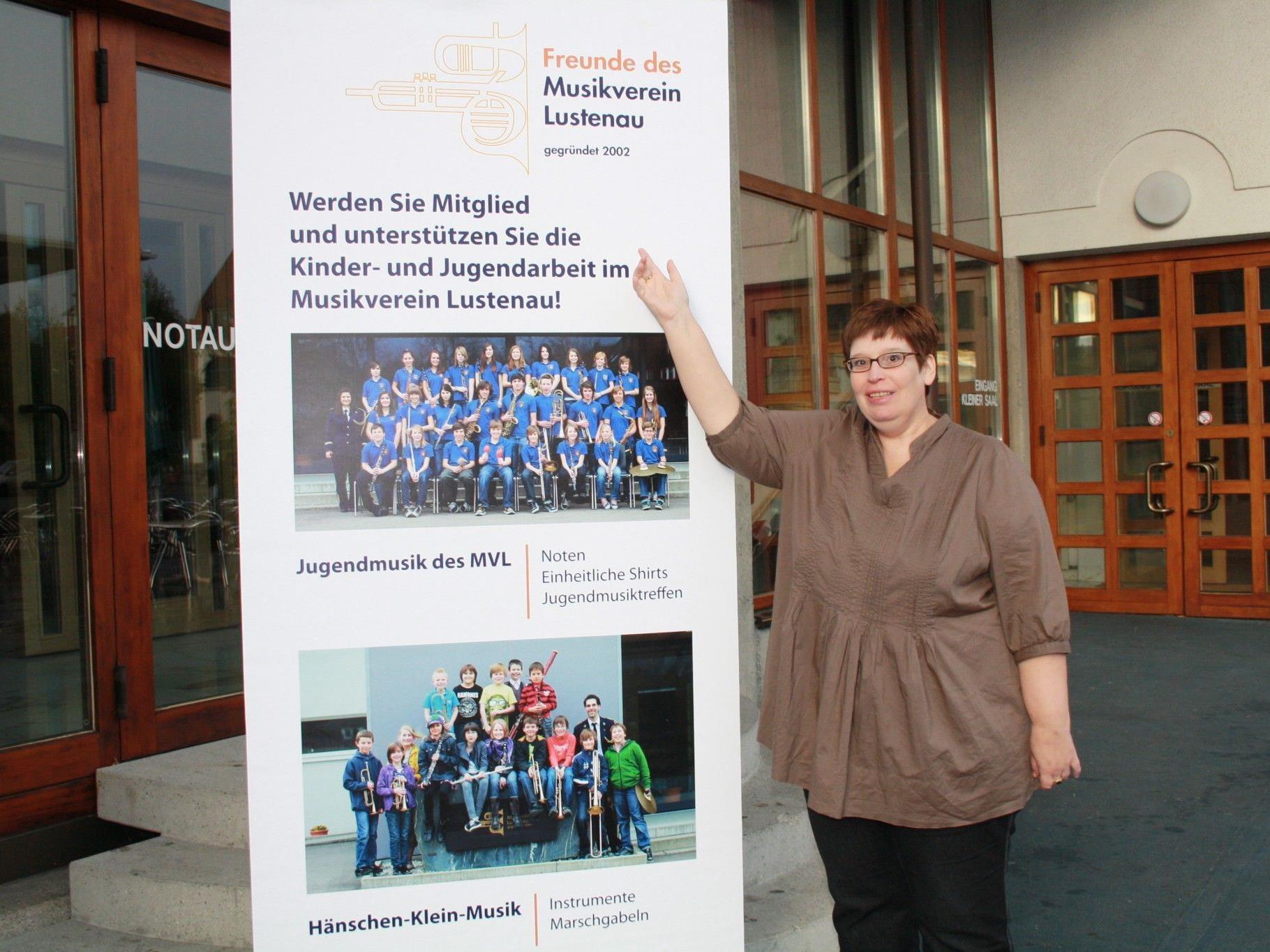 Obfrau Kirsten Steinhofer vom Förderverein des MV Lustenau kann auf viele Erfolge verweisen.