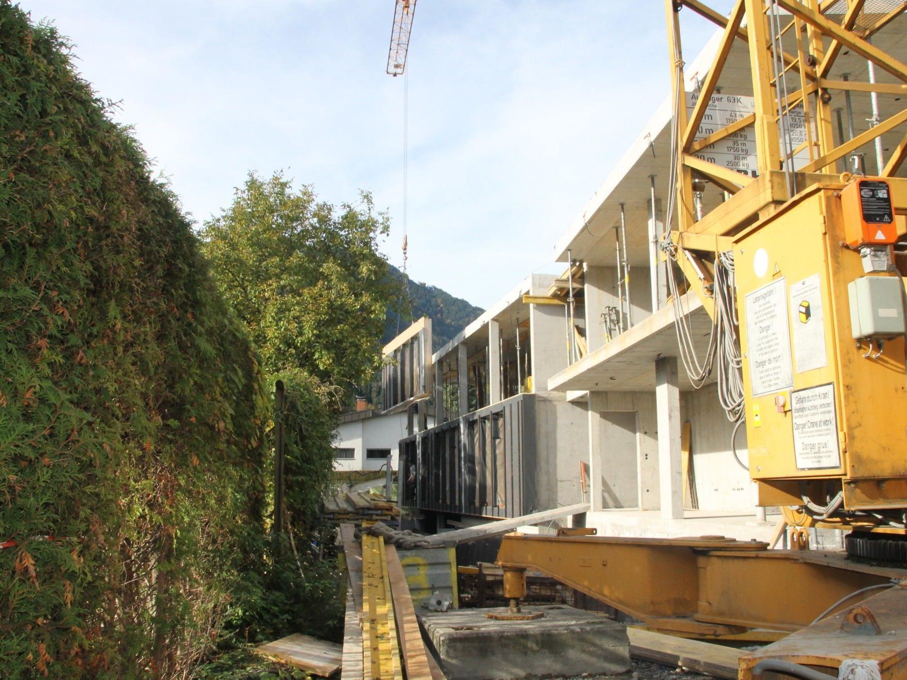 """Mit dem """"Haus Moser"""" entsteht bis Mitte 2013 ein neues Wohnheim."""