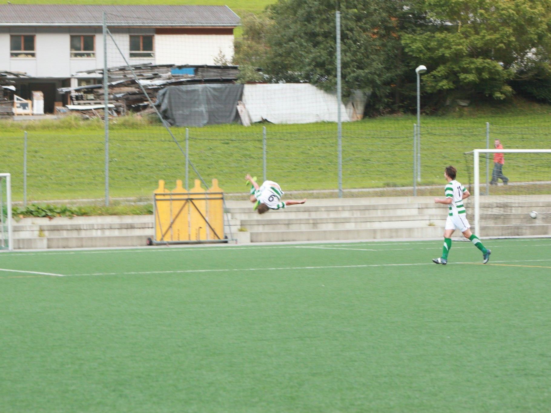 Nur einen Treffer erzielte der SV Gaschurn im Heimspiel gegen Au. Endstand 1:1