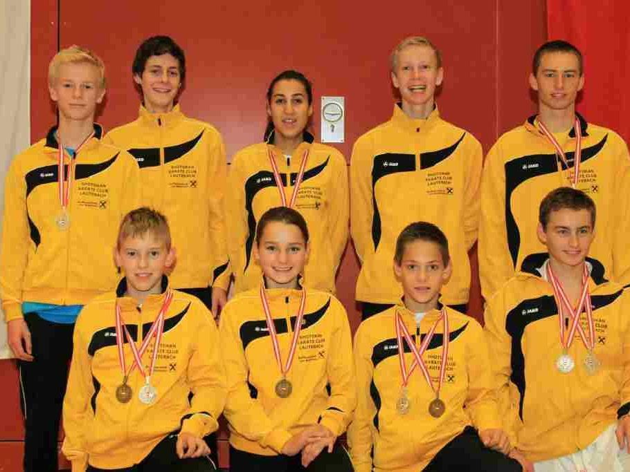 Die stolzen Medaillen Gewinner.