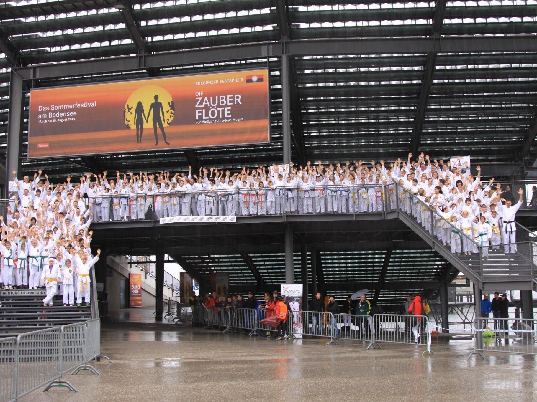 Die Sportart Karate machte in Bregenz auf sich aufmerksam und soll Olympisch werden.