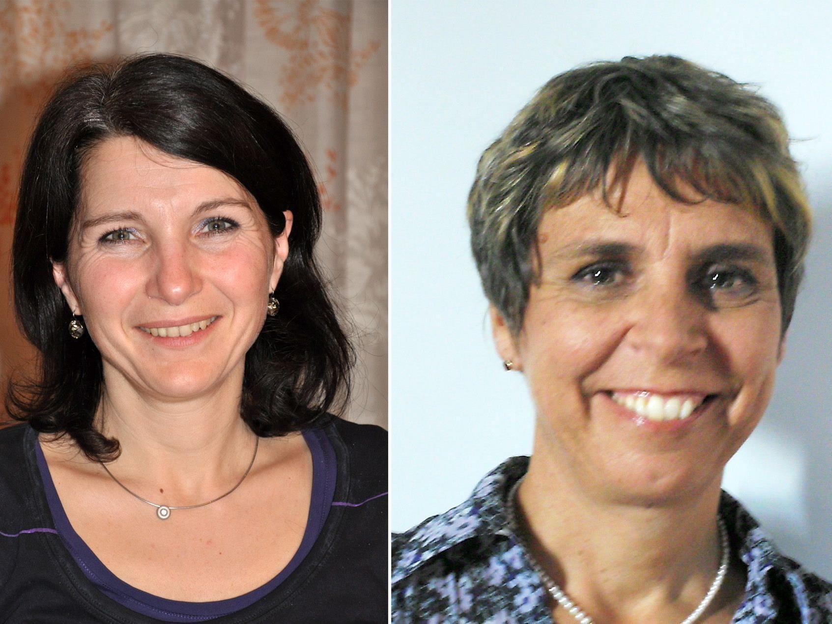 Bereichsleiterin Monika Brunner-Schwab und Festrednerin Dr. Gerda Leipold-Schneider (r)
