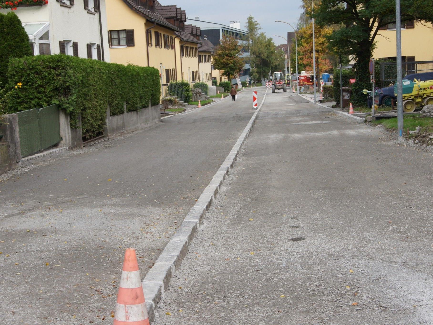 Kanalisation und Neugestaltung der Nachbauerstraße sind nächste Woche abgeschlossen.