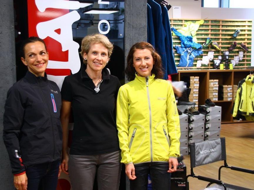 Das Laufwunder Sabine Reiner aus Dornbirn wurde von Northland für den Marathon mit neuer Bekleidung ausgestattet.