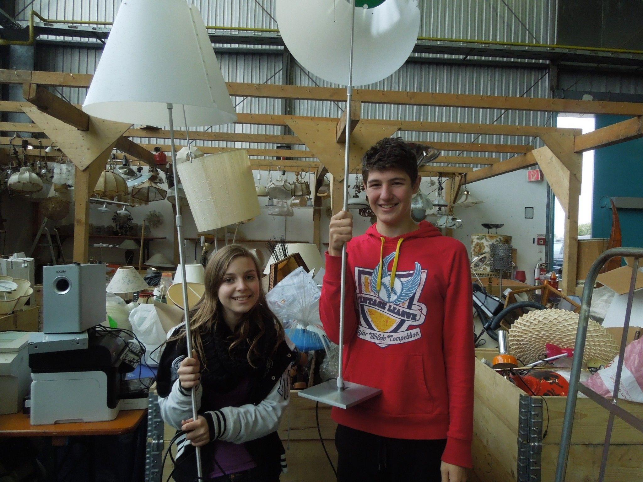 Timea und Lukas sind ebenfalls im Einsatz für den 41. Dornbirner Flohmarkt.