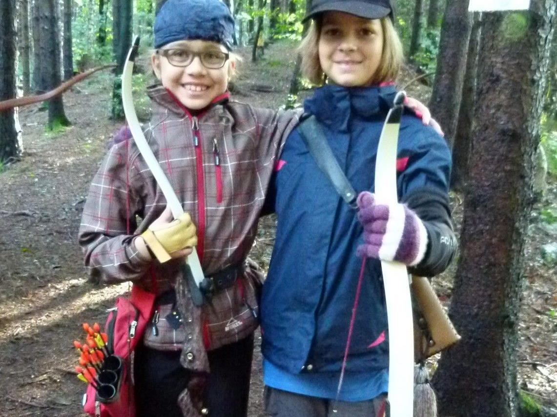 Noreen und Ronja auf dem Turnier in Bludenz