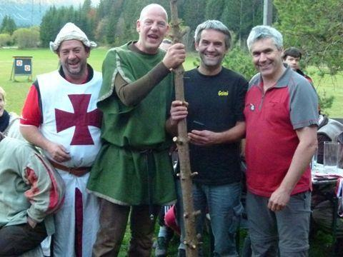 Michael und Ewald Historic Bow mit Gohm Bernhard und Neuner Sepp