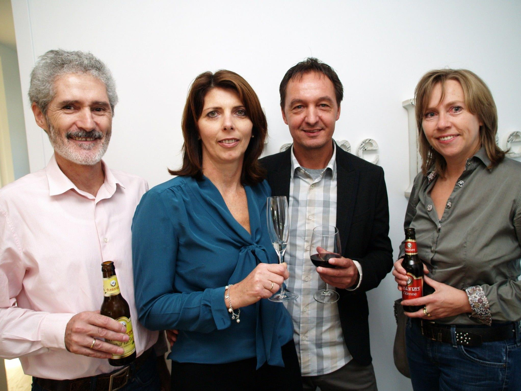 Fredi und Ilse Bucher mit Peter und Gertrude Müller (VN) bei der Eröffnungsfeier.