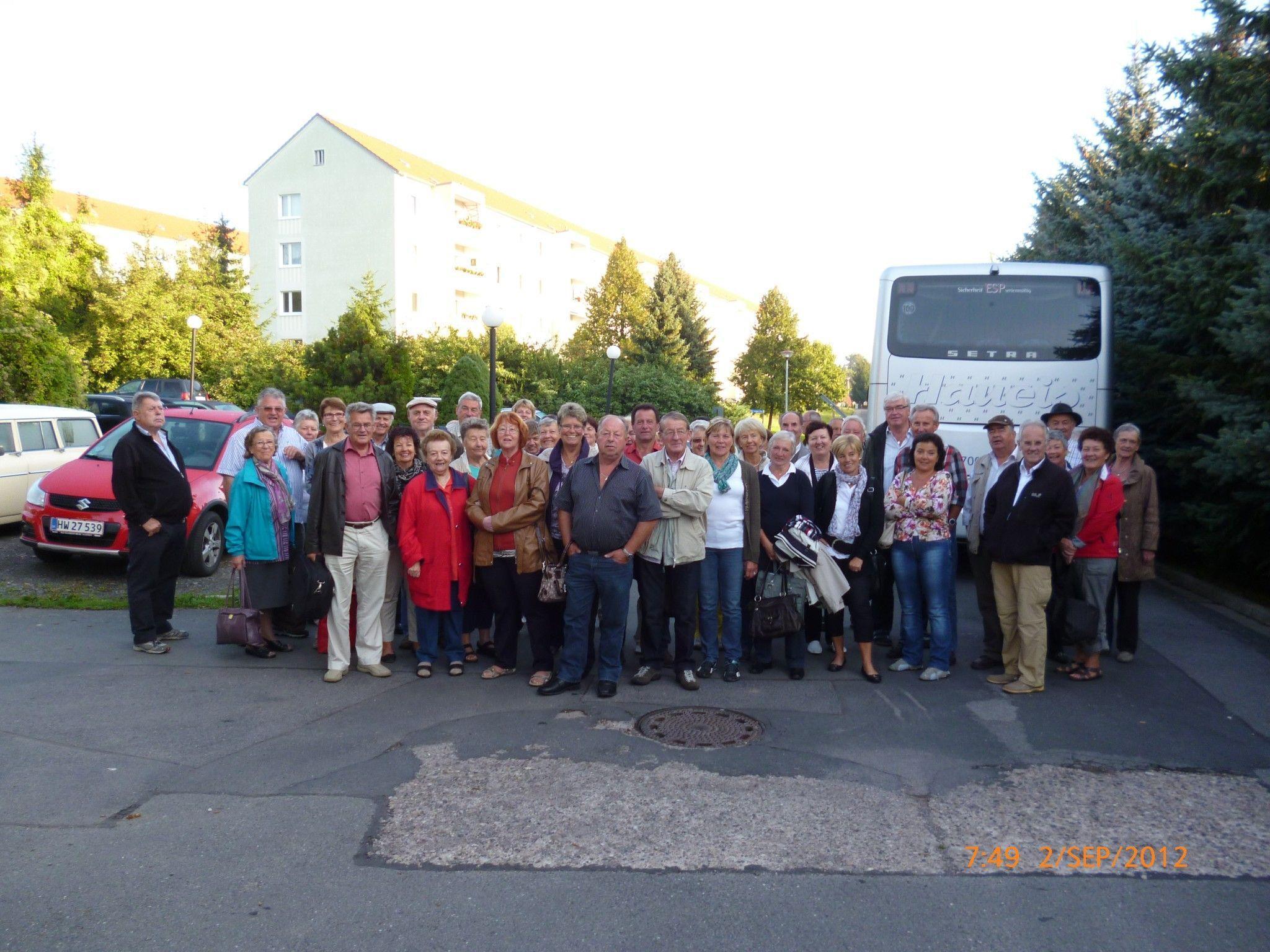 Die Pensionisten auf der sehr interessanten Kurzreise in Dresden.