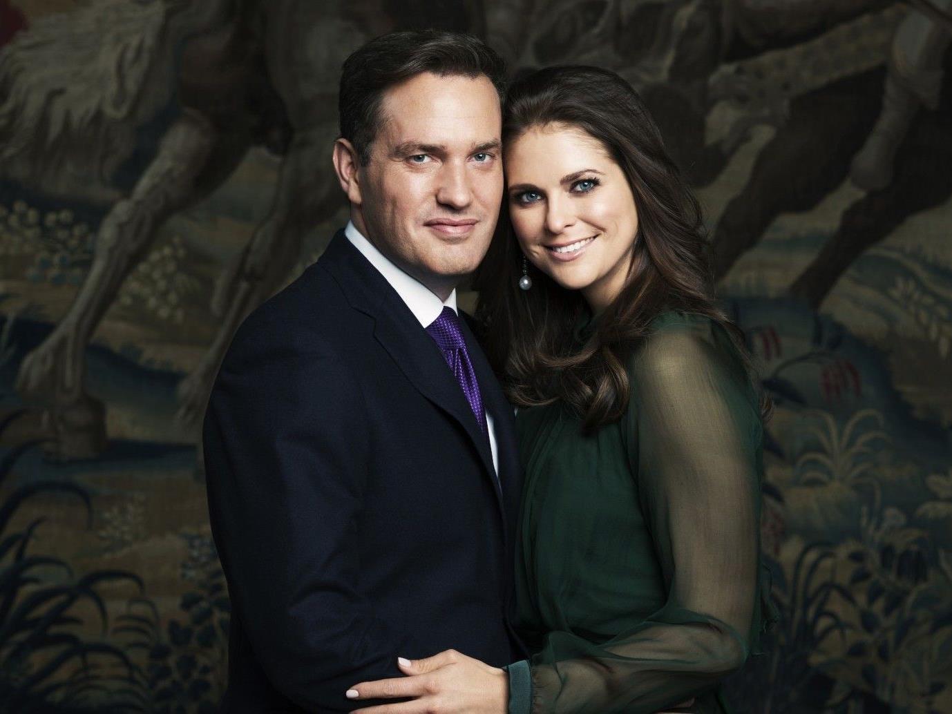 Die Schwedische Prinzessin Madeleine mit ihrem Verlobten dem US-amerikanischen Geschäftsmann Chris O'Neill.