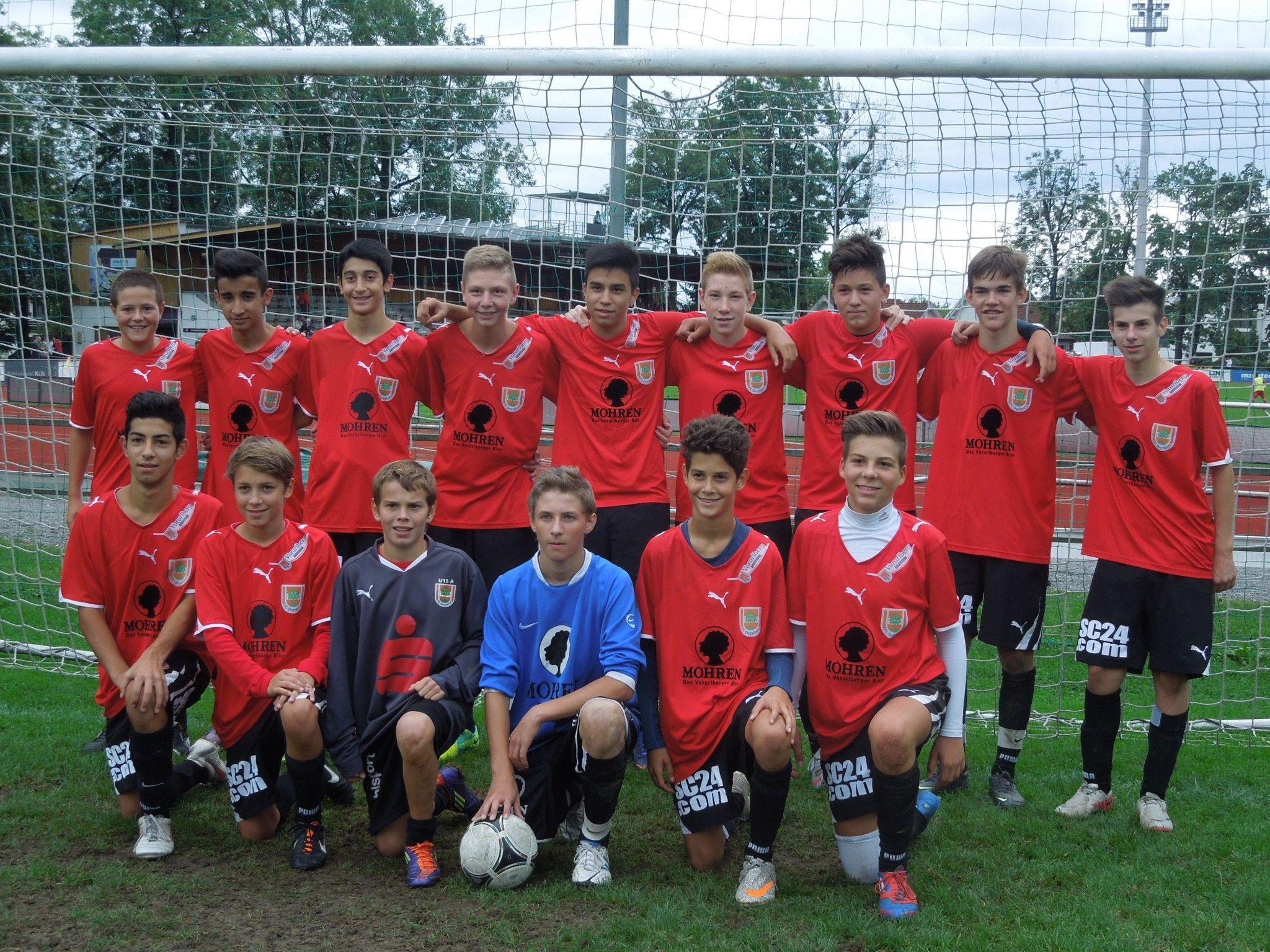 Lediglich die U15 Mannschaft des FC Dornbirn konnte in Lauterach überzeugen.