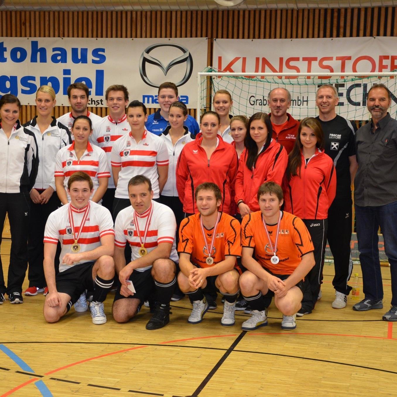 Österreichs Team in Aschaffenburg