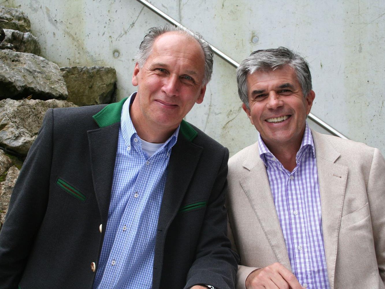 Edi Meyer (Hotel Valavier) mit Mentalcoach Günter Spiesberger.