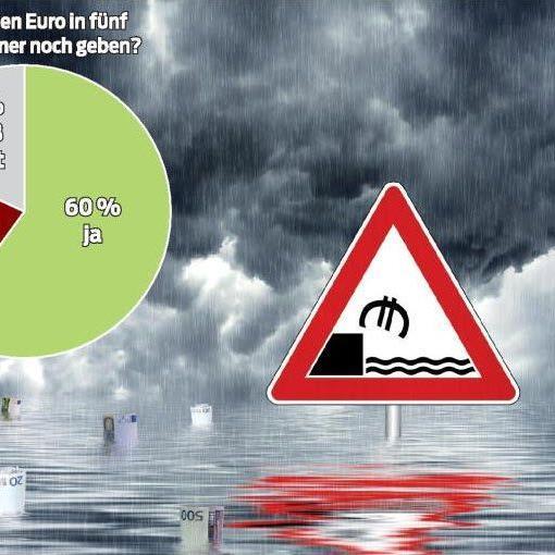 Das Vertrauen in den Euro liegt immerhin bei 60 Prozent.