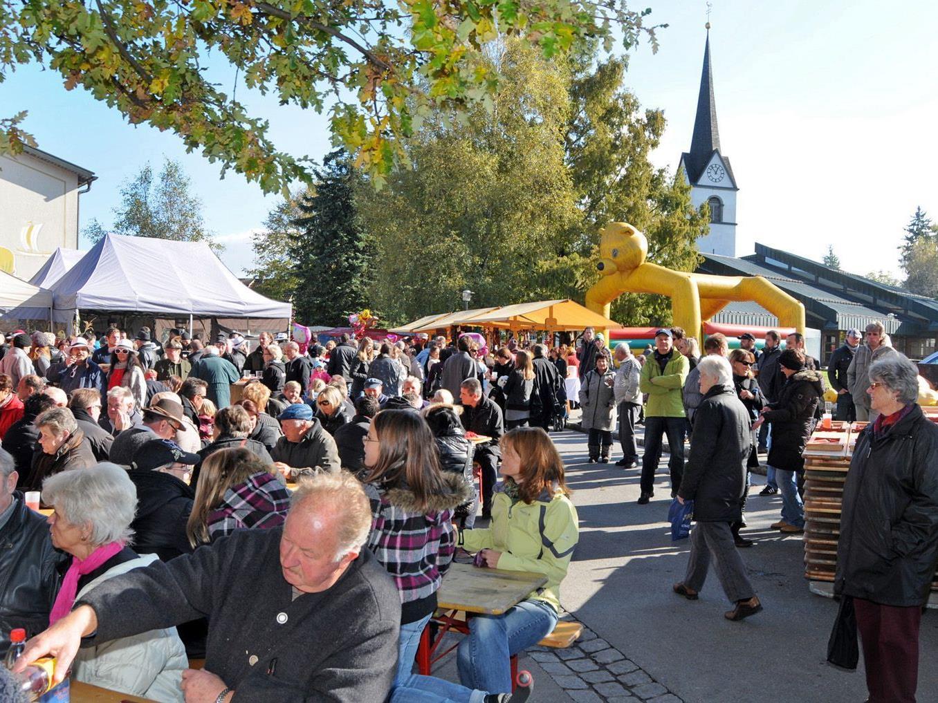 Fußach steht am Nationalfeiertag, dem 26. Oktober, ganz im Zeichen des Marktes.