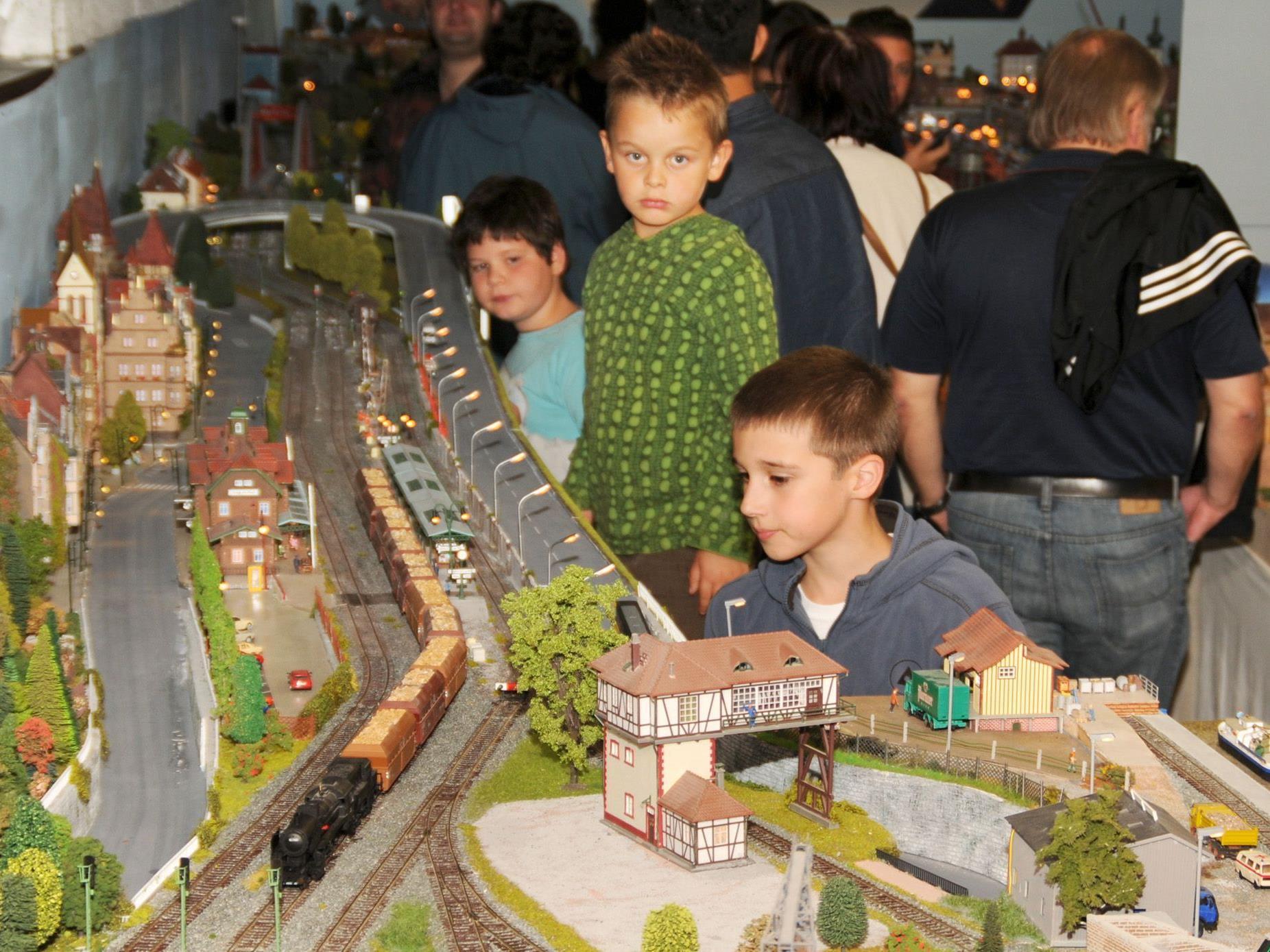 Fans der Modelleisenbahn kamen beim MEF Höchst auf ihre Kosten.