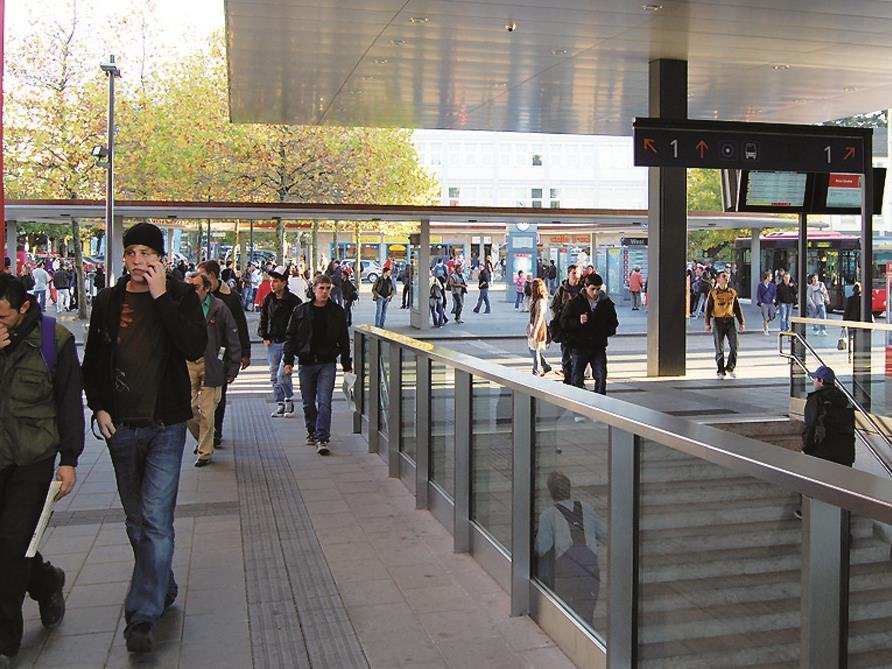 Intensivierung der Reinigung und der Überwachung vor allem in den Unterführungen und beim Busbahnhof