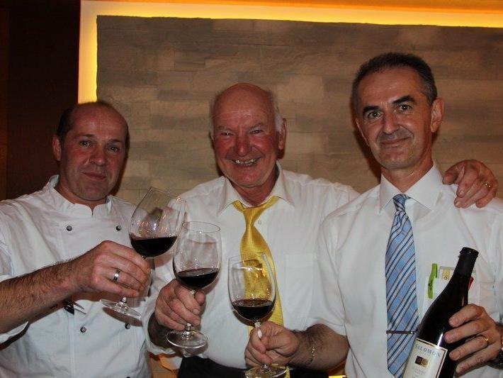 Leo Moosbrugger, Walter Amann und Viktor Dusevic freuten sich über den gelungenen Abend