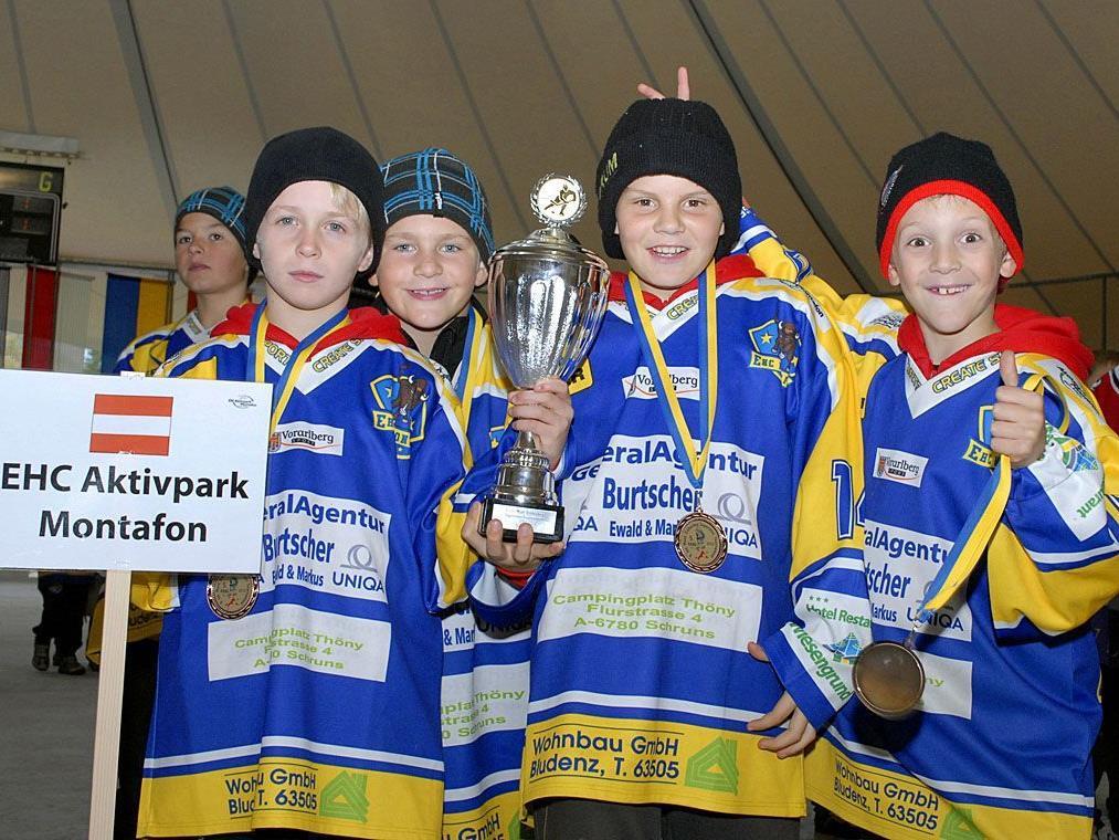 Die Superminis des EHC Aktivpark Montafon belegten beim Turnier den fünften Rang.