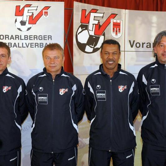 Das AKA-Trainergespann mit Sportchef Andreas Kopf kümmern sich um die heimischen Talente.