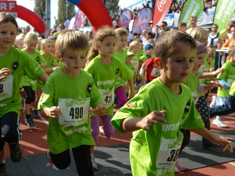 Kindermarathon in Bregenz stieß auf großes Interesse