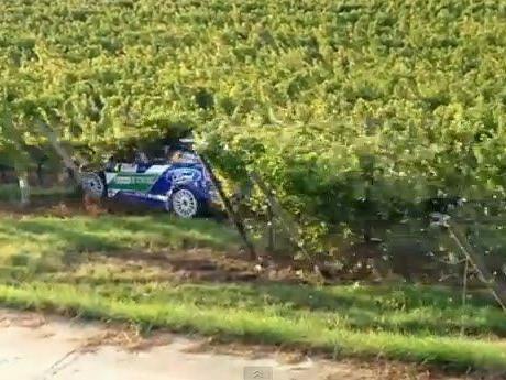 Solberg raste durch Weingärten.