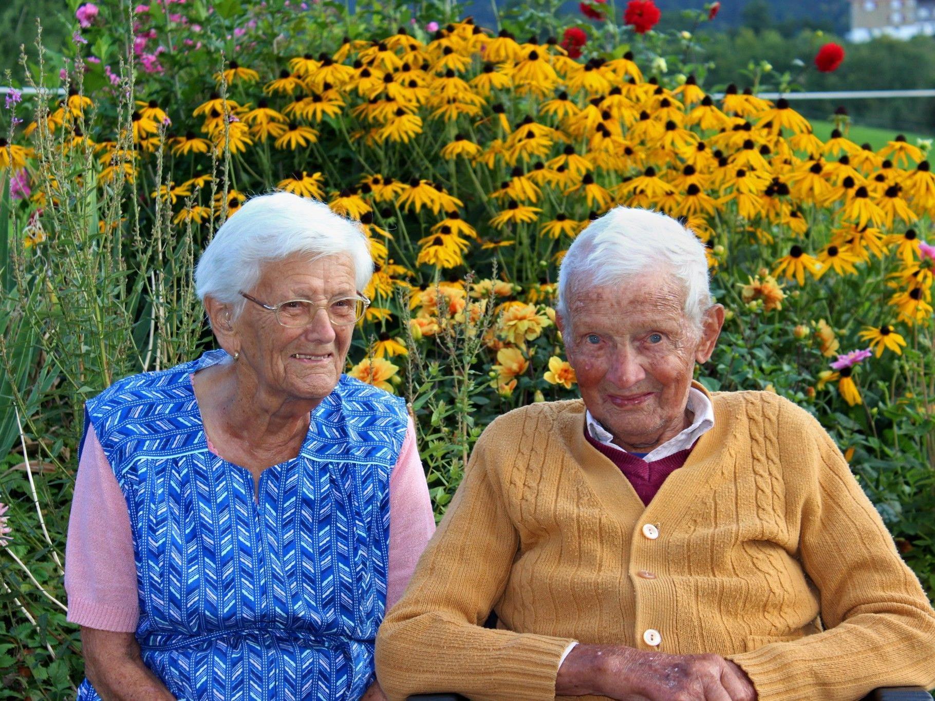 Inzwischen 89 und 93 Jahre alt wünscht sich das Jubelpaar vor allem gesund zu bleiben.