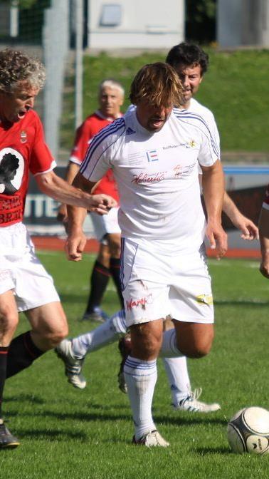 Austria Lustenau Erfolgscoach Helgi Kolvidsson geigte im Freundschaftsspiel in Dornbirn.