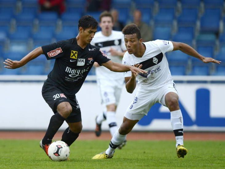 Sidinei de Oliveira verlor mit Bregenz vor über tausend Fans gegen Austria Salzburg.