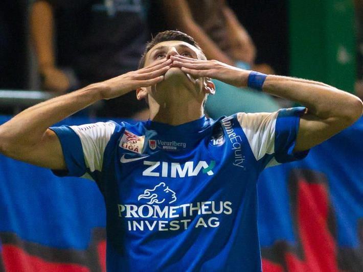 Arvedin Terzic schoss das 2:0 für den FC Lustenau gegen Schlusslicht BW Linz.