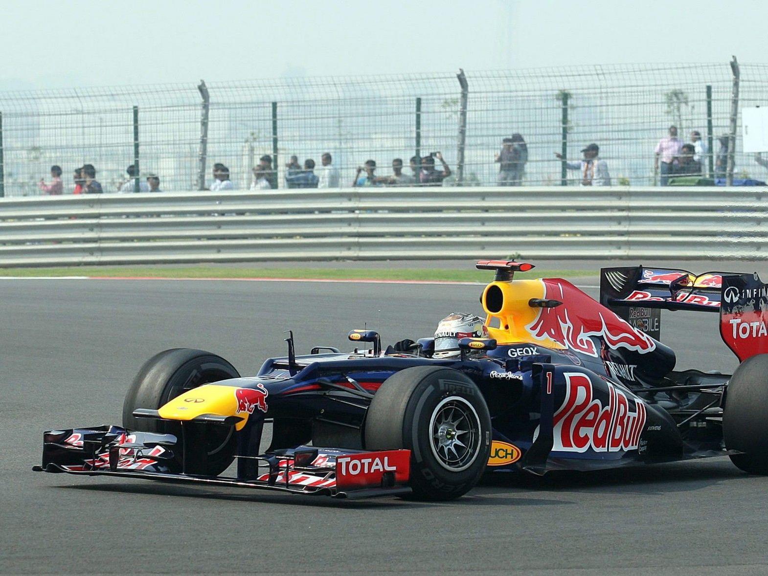 Vettel mit Bestzeit.