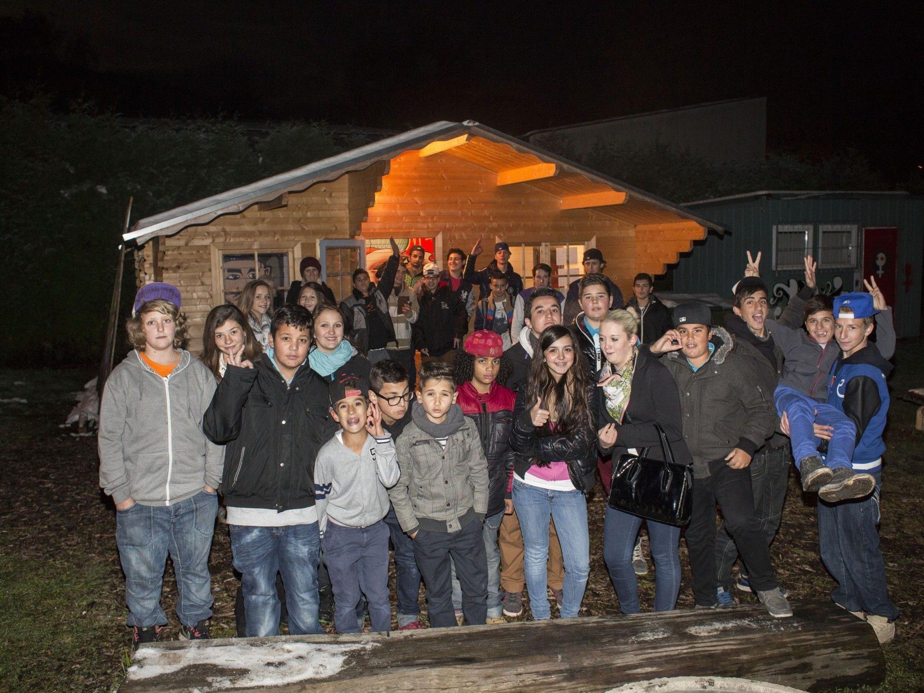 """Beim Projektwettbewerb 2012 erreichten die jugendlichen """"Häuslebauer"""" mit """"Free Time Götzis"""" den ersten Platz."""