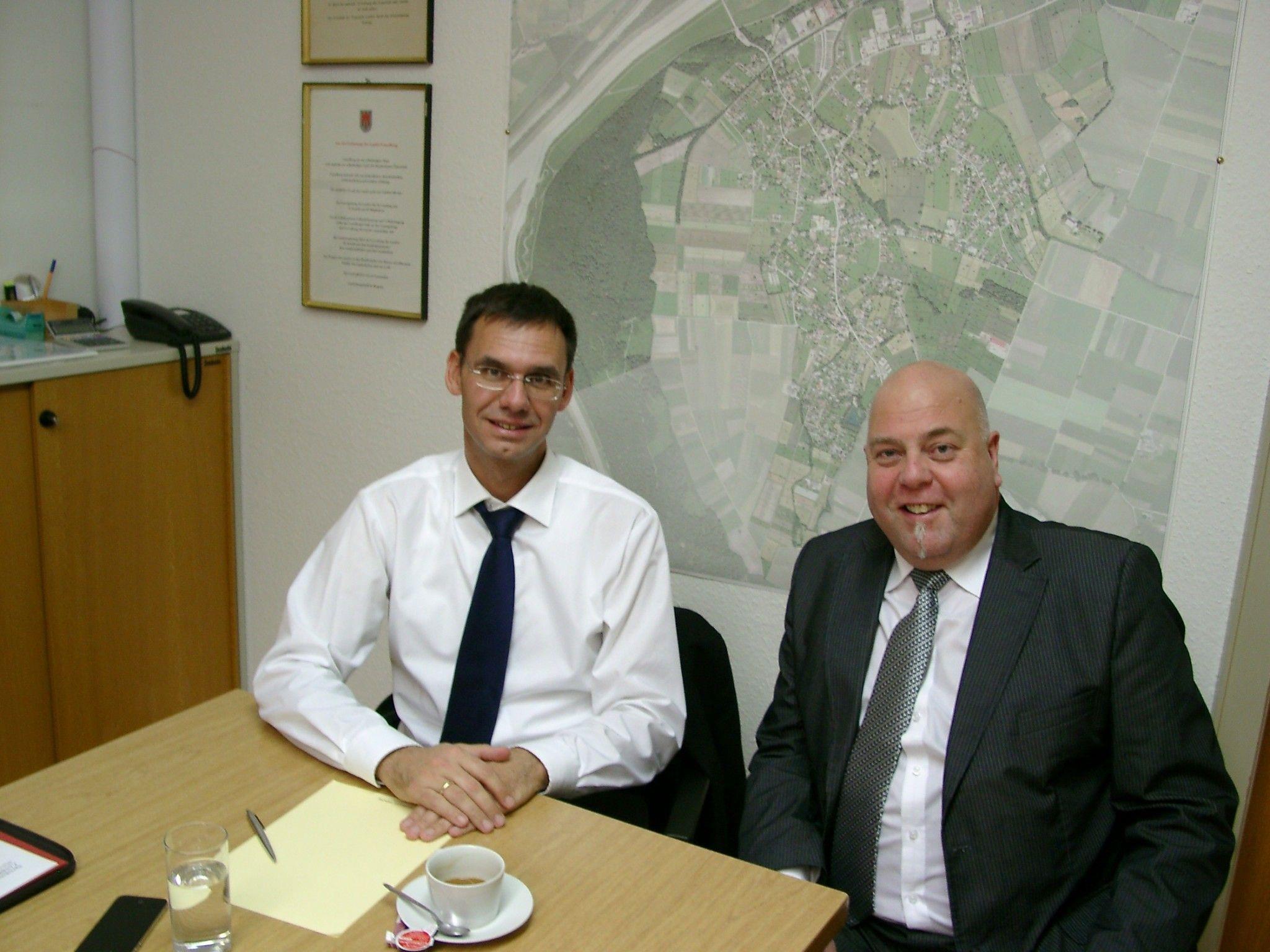 LH Markus Wallner mit Meiningen Bürgermeister Thomas Pinter stellte sich den Fragen der Bürger.